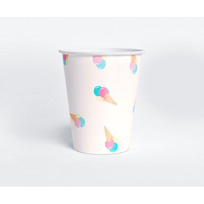 """Стаканчик """"Ванильное мороженое"""" пломбир, белый"""