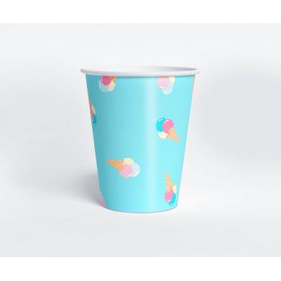 """Стаканчик """"Ванильное мороженое"""" пломбир, голубой"""