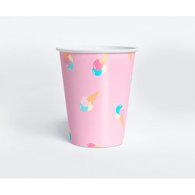 """Стаканчик """"Ванильное мороженое"""" пломбир, розовый"""