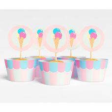 """Набор для капкейков """"Ванильное мороженое"""" джелато"""