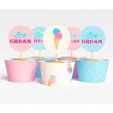 """Набор для капкейков """"Ванильное мороженое"""" Ice cream"""