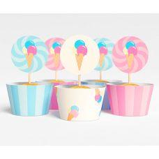 """Набор для капкейков """"Ванильное мороженое"""" пломбир"""