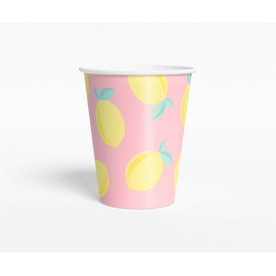 """Стаканчик """"Лимонадная вечеринка"""" Валенсия,розовый"""
