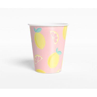 """Стаканчик """"Лимонадная вечеринка"""" экзотика, розовый"""