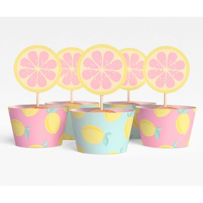 """Набор для капкейков """"Лимонадная вечеринка"""" Валенсия, лимоны"""