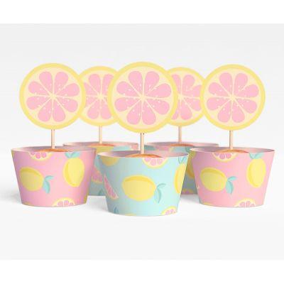 """Набор для капкейков """"Лимонадная вечеринка"""" экзотика, лимоны"""