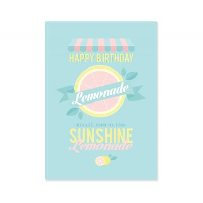 """Плакат """"Лимонадный праздник"""""""