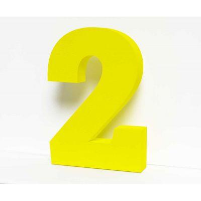 Объемная цифра 2