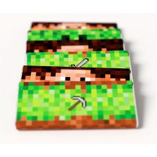 "Этикетки на шоколад ""Майнкрафт"" Стив, Крипер, инструменты"