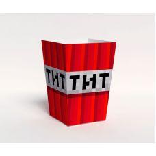 """Коробочка для попкорна """"Майнкрафт"""" динамит"""