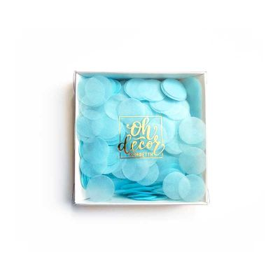 Конфетти голубое. Коробка
