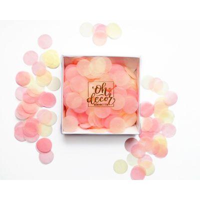 Конфетти персиковый, розовый, айвори цвета. Коробка