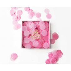 Конфетти розовое. Коробка