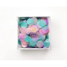 """Конфетти """"Единорог"""" мятный, розовый, сиреневый цвета. Коробка"""
