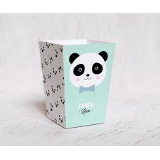 """Коробочка для попкорна """"Панда"""", мятно-розовая пастель"""