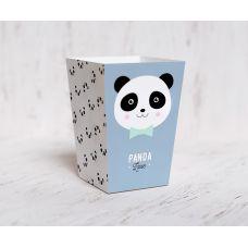 "Коробочка для попкорна ""Панда"", ниагара-розовая пастель"