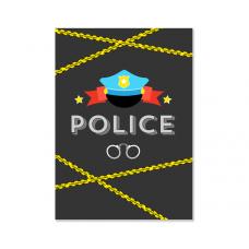 """Плакат """"Полицейская вечеринка"""""""