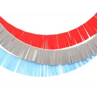 Гирлянды бахрома красная, серая, голубая