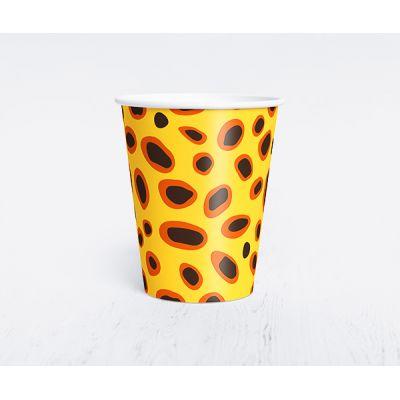 """Бумажный одноразовый стаканчик """"Сафари"""" леопард"""