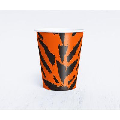 "Бумажный одноразовый стаканчик ""Сафари"" тигр"