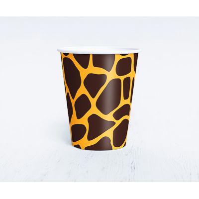 """умажный одноразовый стаканчик """"Сафари"""" жираф"""