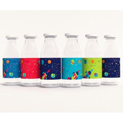 """Этикетки для бутылочек """"Космос"""""""
