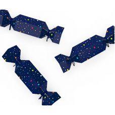 """Набор коробочек-конфет """"Космос"""" темно синяя, звезды"""