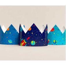 """Короны """"Космос"""" синяя, голубая"""