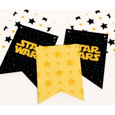 """Гирлянда прямоугольная """"Звездные войны"""" Star Wars и звезды"""