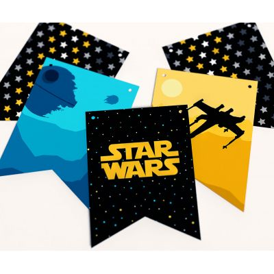 """Гирлянда прямоугольная """"Звездные войны"""" Star Wars Вселенная"""