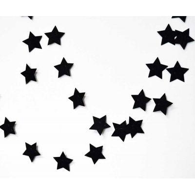 """Гирлянда """"Черные звезды"""""""