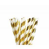 Трубочки бумажные. Золотые глянец. Завиток