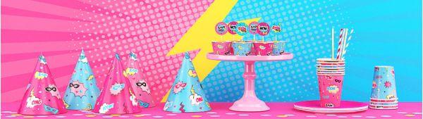 День рождения в стиле супердевочки