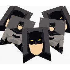 """Гирлянда прямоугольная """"Бэтмен"""" серая"""