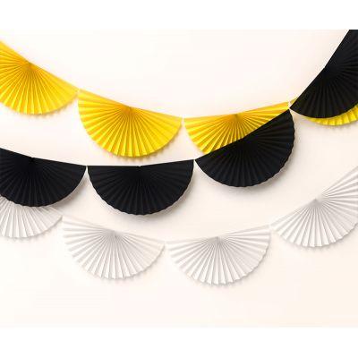Сет веерных гирлянд. Желтая, белая, черная, 3 шт