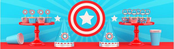 День рождения в стиле Капитан Америка