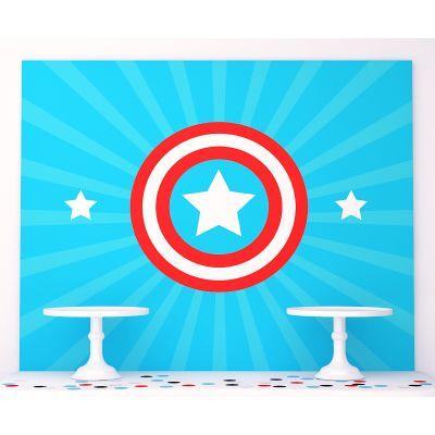 "Плакат 120х100 см ""Капитан Америка"""