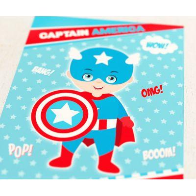 """Плакат """"Супергерои. Капитан Америка"""""""