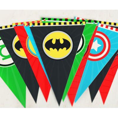 Флажки для вечеринки супергероев