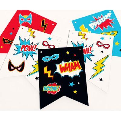 """Растяжка для вечеринки супергероев """"Супергерои"""" сверхспособности"""