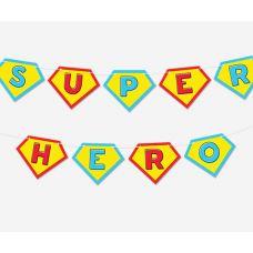 Гирлянда фигурная Superhero