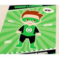"""Плакат """"Супергерои. Зеленый фонарь"""""""