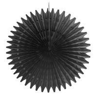 Веерный круг черный