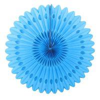 Веерный круг голубой