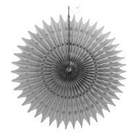 Веерный круг серый