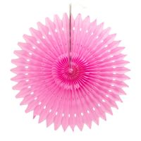 Веерный круг розовый