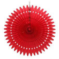 Веерный круг красный
