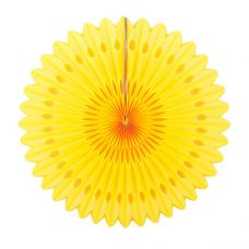 Веерный круг желтый