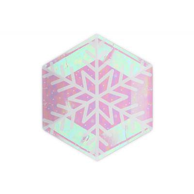 """Тарелки """"Снежинки"""" многоугольные радужные"""
