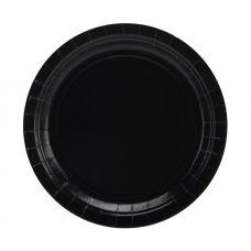 Тарелки черные 17 см, 8 шт